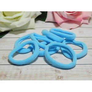 Резиночки для волос бесшовные 40 мм, 50 шт. голубой