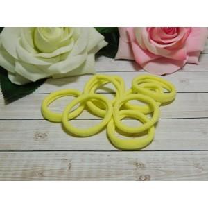 Резиночки для волос бесшовные 40 мм, 50 шт. желтый светлый