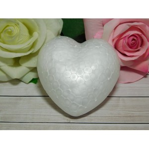Основа из пенопласта сердце 100 мм, 10 шт.